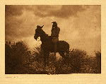 portfolio 1 plate no. 13 Scout - Apache  - photogravure plate