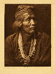 portfolio 1 plate no. 31 Nesjaja Hatali - Navaho - photogravure plate