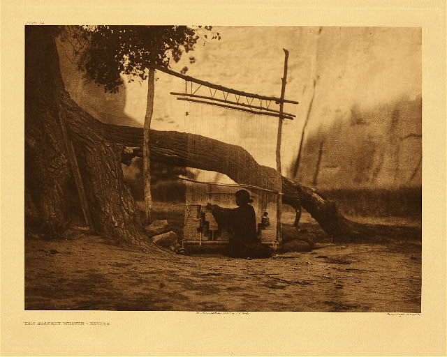 portfolio 1 plate no. 34 Blanket weaver - Navaho