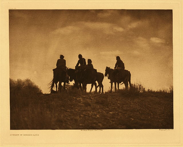 portfolio 1 plate no. 38 Sunset in Navaho-land