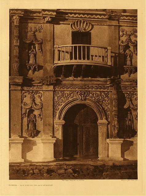 portfolio 2 plate no. 52 Portal - San Xavier del Bac Mission