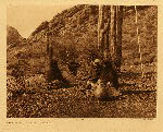 portfolio 2 plate no. 55 Resting in the harvest field - Qahatika - photogravure plate