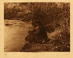 portfolio 2 plate no. 75 Getting water - Havasupai - photogravure plate