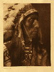 portfolio 3 plate no. 81 Jack Red Cloud  - photogravure plate