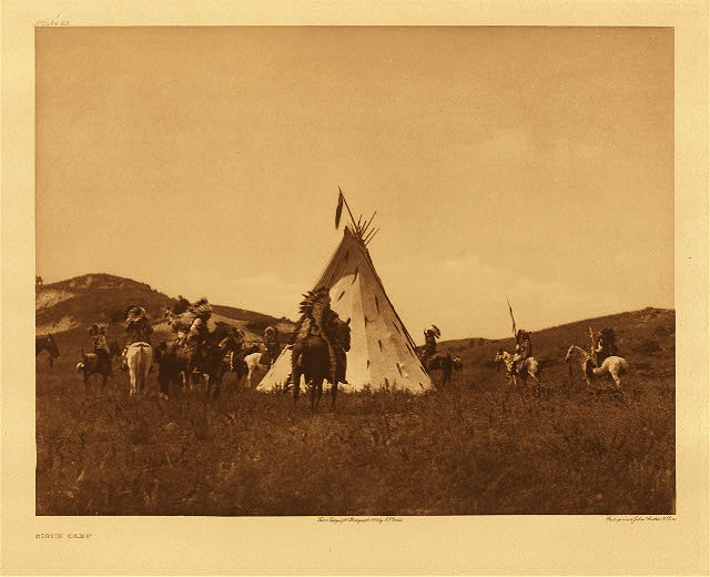 portfolio 3 plate no. 93 Sioux camp
