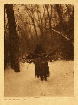 portfolio 3 plate no. 105 Wood gatherer - Sioux - photogravure plate