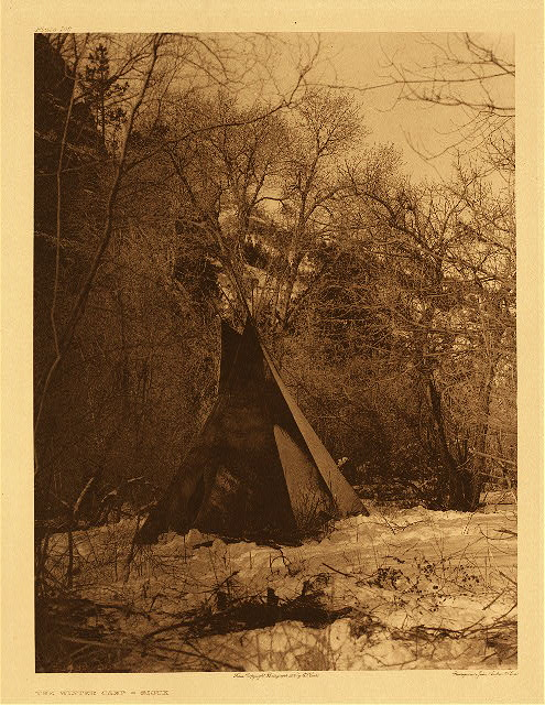 portfolio 3 plate no. 106 Winter camp - Sioux