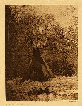 portfolio 3 plate no. 106 Winter camp - Sioux - photogravure plate