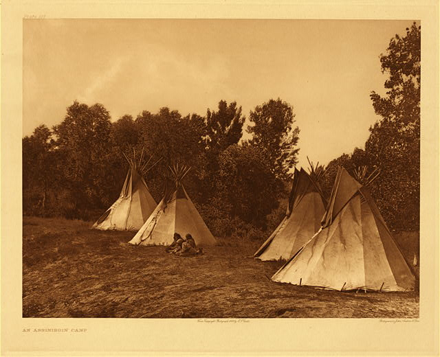 portfolio 3 plate no. 107 Assiniboin camp