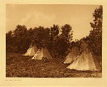 portfolio 3 plate no. 107 Assiniboin camp - photogravure plate