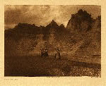 portfolio 3 plate no. 119 In the Bad Lands - photogravure plate