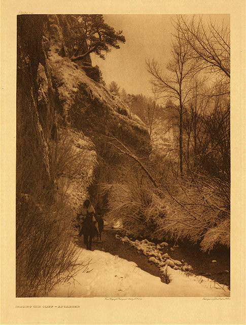 portfolio 4 plate no. 132 Passing the cliff - Apsaroke