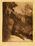 portfolio 4 plate no. 132 Passing the cliff - Apsaroke - photogravure plate