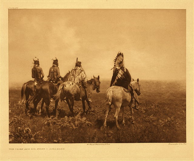 portfolio 4 plate no. 137 Chief and his staff - Apsaroke