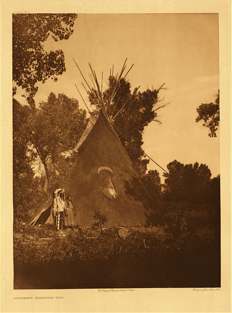 portfolio 4 plate no. 141 Apsaroke medicine tipi