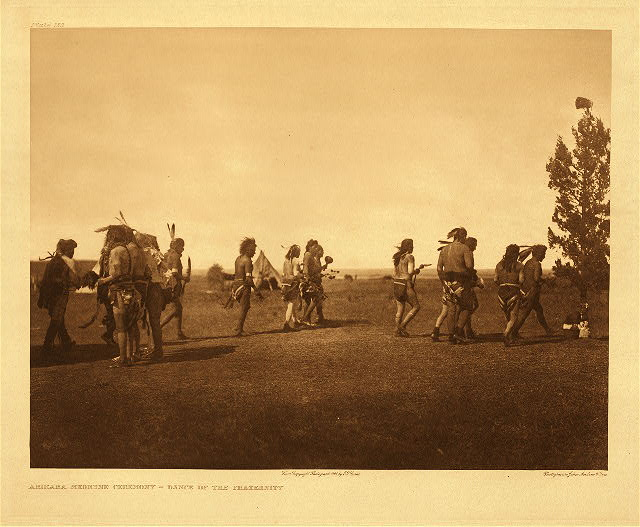 portfolio 5 plate no. 158 Arikara medicine ceremony - Dance of the fraternity