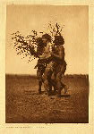 portfolio 5 plate no. 163 Arikara medicine ceremony - The Ducks - photogravure plate