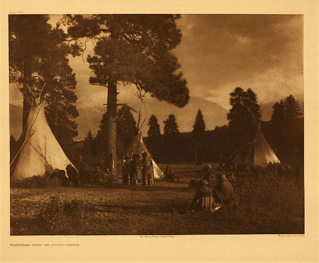 portfolio 7 plate no. 232 Flathead camp on Jocko River