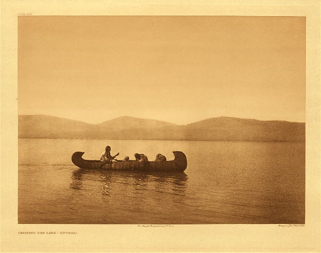 portfolio 7 plate no. 252 Crossing the lake – Kutenai