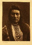 portfolio 8 plate no. 258 Typical Nez Perce - photogravure plate