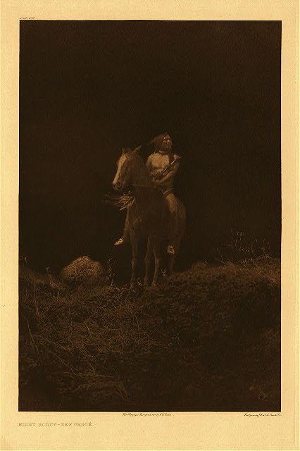 portfolio 8 plate no. 260 Night scout - Nez Perce