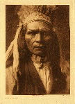 portfolio 8 plate no. 262 Nez Perce warrior - photogravure plate