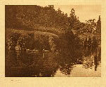 portfolio 8 plate no. 291 On Klickitat River – C - photogravure plate