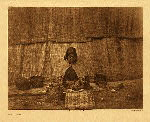 portfolio 9 plate no. 310 Basket maker - photogravure plate