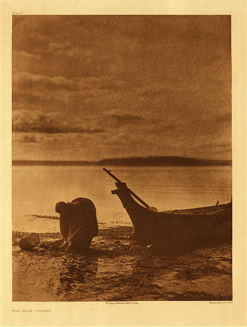 Clam Digger by Edward Curtis © Copyright 2004 Northwestern University Library.