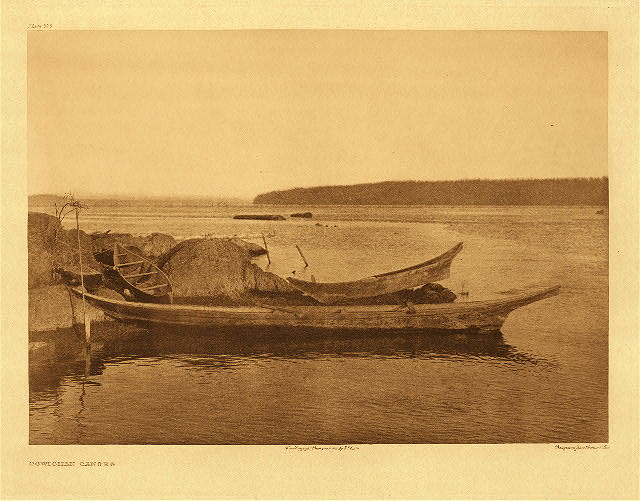 portfolio 9 plate no. 325 Cowichan canoes