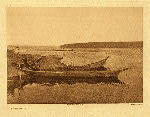 portfolio 9 plate no. 325 Cowichan canoes - photogravure plate