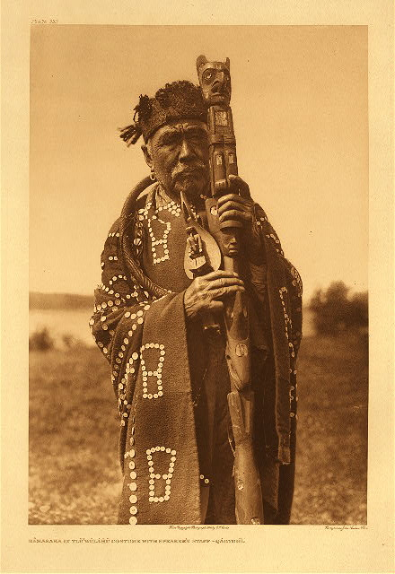portfolio 10 plate no. 333 Hamasaka in Tlu'wulahu costume with speaker's staff –Qagyuhl