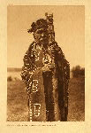 portfolio 10 plate no. 333 Hamasaka in Tlu'wulahu costume with speaker's staff –Qagyuhl - photogravure plate