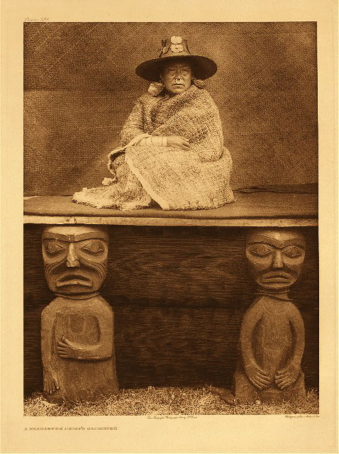 portfolio 10 plate no. 334 Nakoaktok chief's daughter