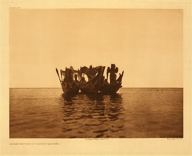 portfolio 10 plate no. 362 Masked dancers in canoes - Qagyuhl, B