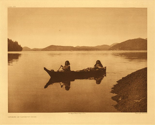 portfolio 11 plate no. 373 Canoeing on Clayoquot Sound
