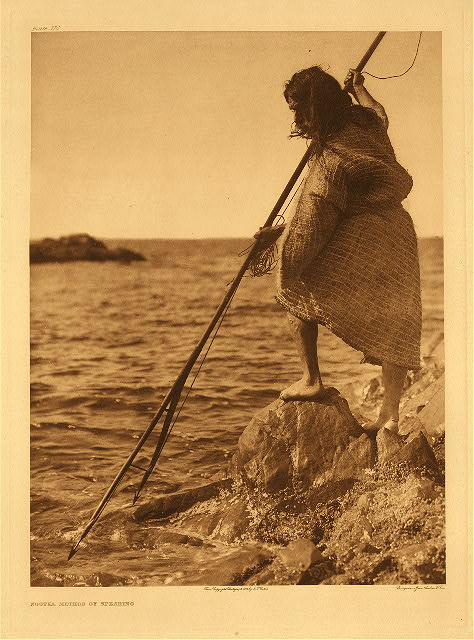 portfolio 11 plate no. 374 Nootka method of spearing