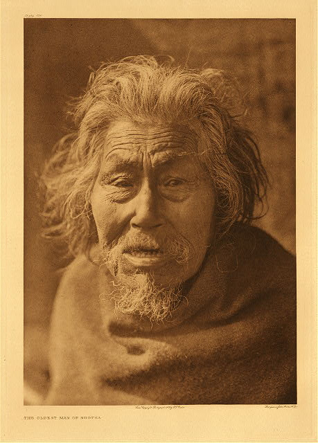 portfolio 11 plate no.375  Oldest man of Nootka