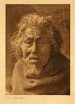 portfolio 11 plate no.375  Oldest man of Nootka - photogravure plate