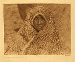 portfolio 11 plate no. 381 Nootka woman wearing cedar-bark blanket - photogravure plate