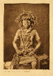 portfolio 12 plate no. 408 Honovi - Walpi snake priest, with Totokya Day painting - photogravure plate