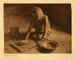 portfolio 12 plate no. 419 Potter mixing clay - photogravure plate