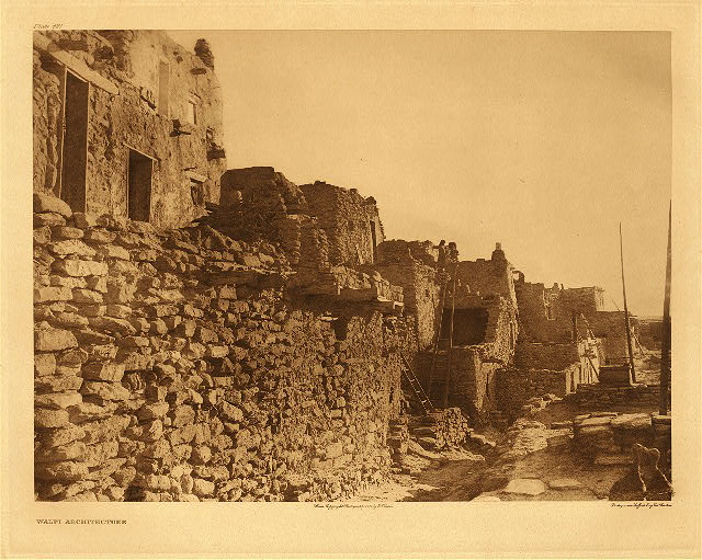 portfolio 12 plate no. 421 Hopi architecture