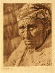 portfolio 13 plate no. 440 Old Klamath woman - photogravure plate