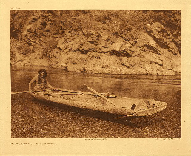 portfolio 13 plate no. 443 Yurok canoe on Trinity River