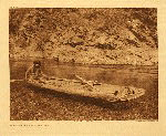 portfolio 13 plate no. 443 Yurok canoe on Trinity River - photogravure plate