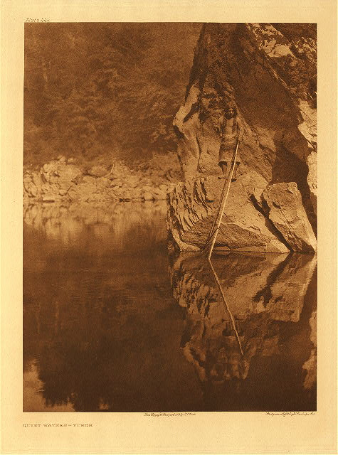 portfolio 13 plate no. 444 Yurok canoe on Trinity River