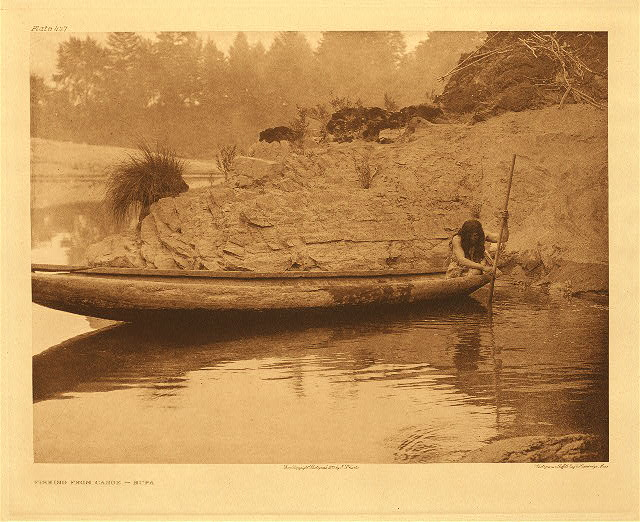 portfolio 13 plate no. 447 Fishing from canoe – Hupa