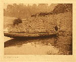 portfolio 13 plate no. 447 Fishing from canoe – Hupa - photogravure plate