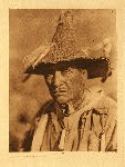 portfolio 13 plate no. 449 Klamath warrior's headdress - photogravure plate